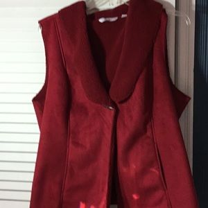 Beautiful red suede vest